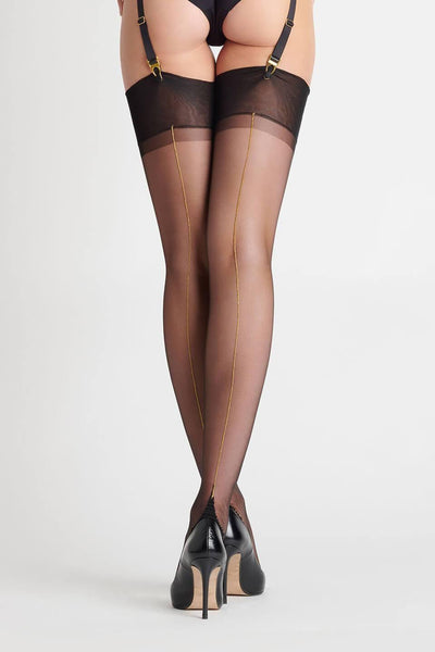 Gold Back Seamed Stockings