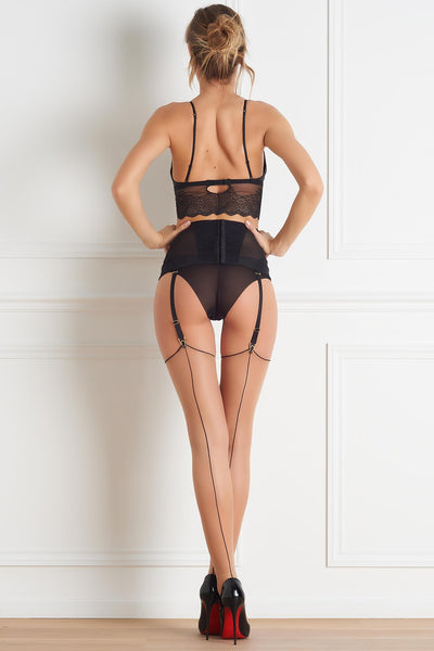 Nude Back Seamed Stockings