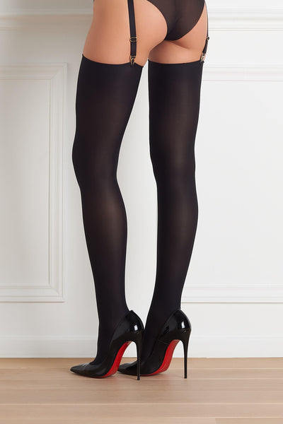 Opaque Cut & Curled Stockings