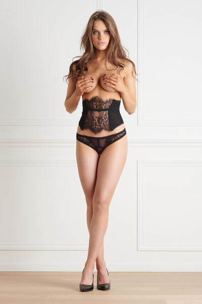 Inspiration Divine Black Lace Waist Cincher