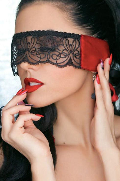 Temptress Red Silk Eye Mask