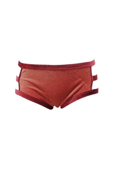 Smoky Pink Velour Period-Proof Panty