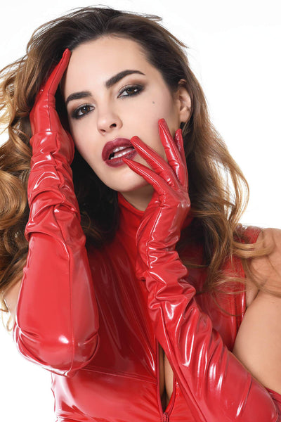 Sweety Glossy Red Gloves