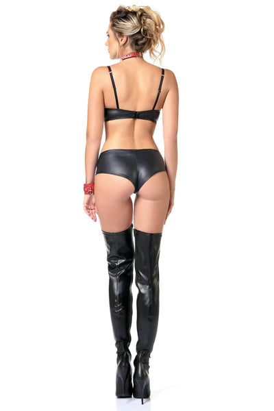 Beatrice Vegan Leather Shorty