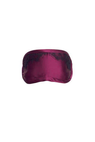 Bordeaux Red Silk Eye Mask
