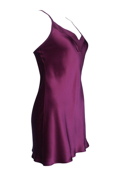 Bordeaux Silk Slip Dress