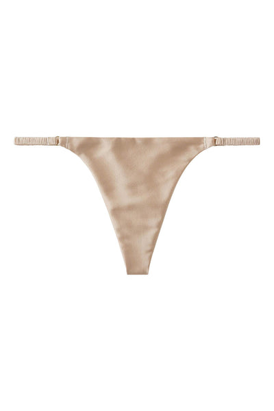 Everyday Champagne Gold Silk G-String