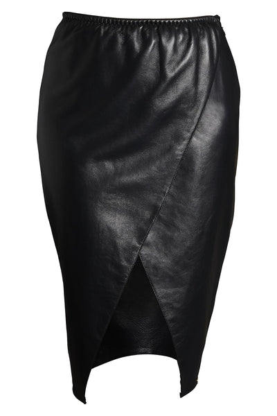 Lexi Black Leather Skirt