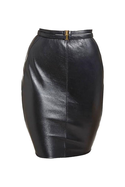 Nina Leather Skirt
