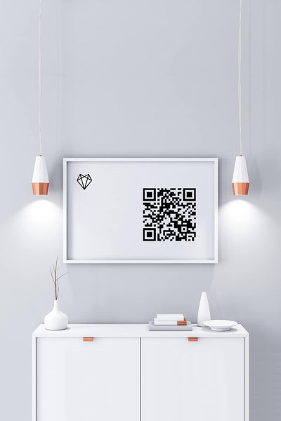 Framed Crypto Love • Support with Sats