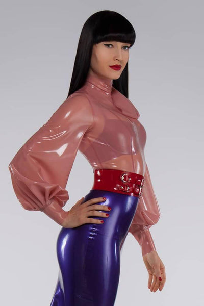 Latex Waist Cincher Belt