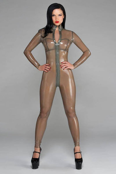 Semitransparent Full Body Latex Catsuit