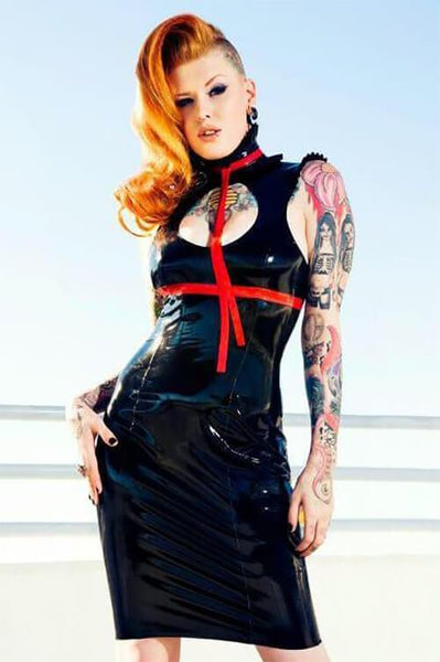 Ruffled Latex Boobie Dress
