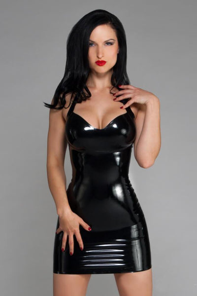 Latex Halter Dress