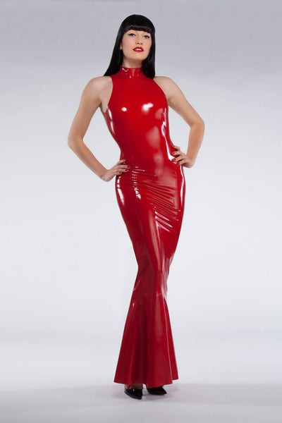 Latex Fishtail Gown