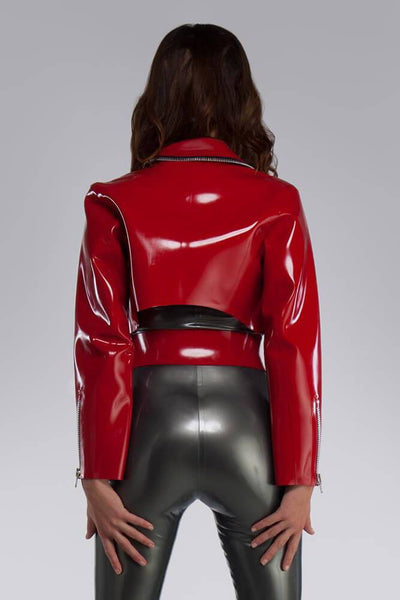 Zeta Red Latex Jacket