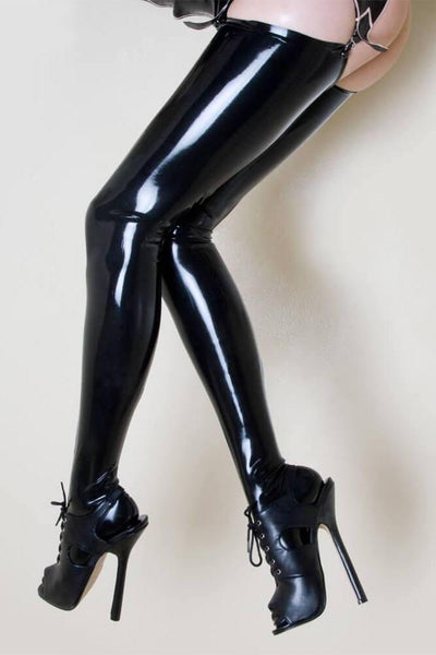Molded Latex Thigh High Stockings