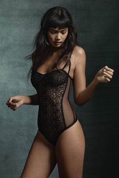 Luz French Embroidered Tulle Bodysuit