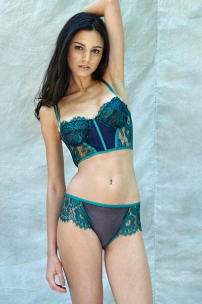 Jasmin Emerald French Lace Set