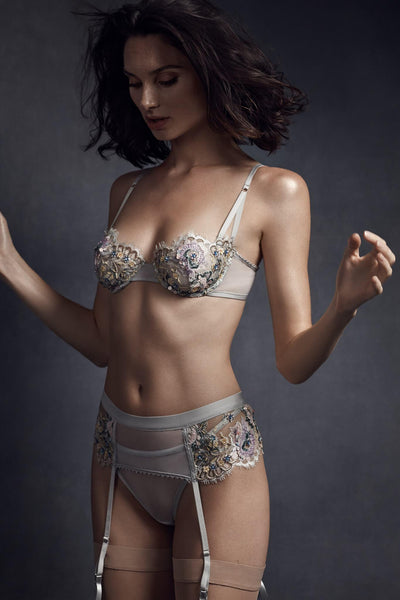 Pilar Embroidered Lace Lingerie Set