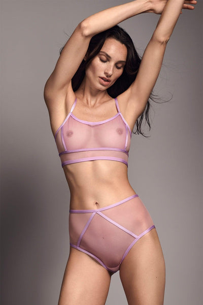 Plum Blush Kelani Sheer High Waist Panty