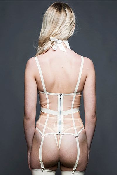 Theia White Latex Basque