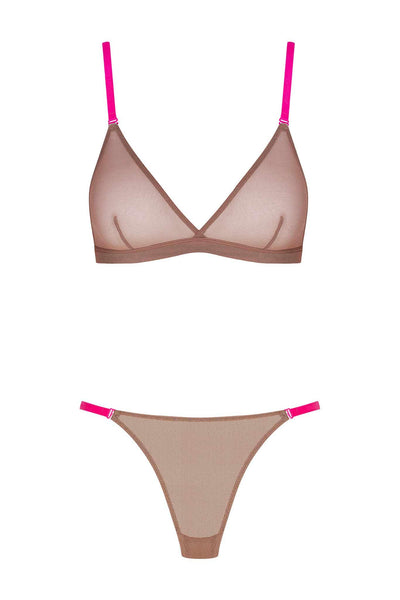 Corps à Corps Lingerie Set • Ginger Neon Pink