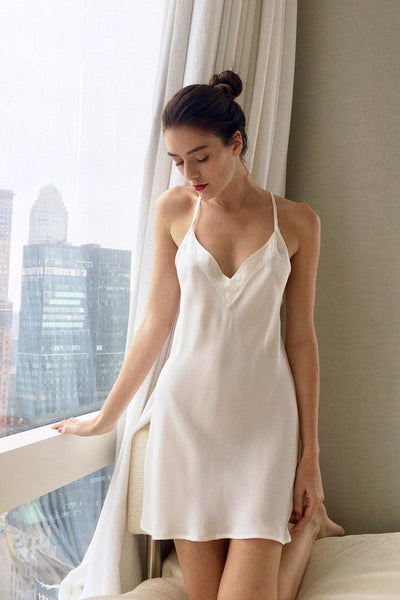 Arctic White Slip Dress