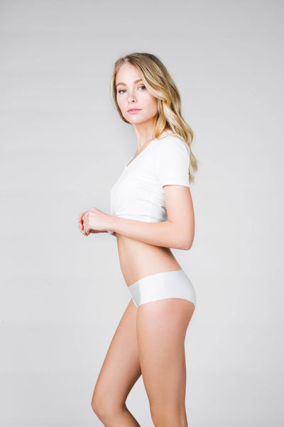 White Invisible Boyshort Panty