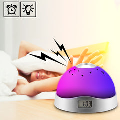 LED Table Lamp w/ Projector, Music, Alarm/Clock, Calendar & Thermostat - Medsitis