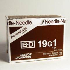 "BD PrecisionGlide™ 19 G x 1"" Hypodermic Needles - 305186"
