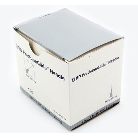 "BD PrecisionGlide™ 27 G x 1-1/4"" Hypodermic Needles - 305136"