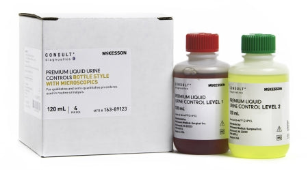 Consult® Premium Urine Controls 120mL Bottle w/ Microscopics - 163-89123
