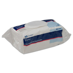 "Curity™ Pre-Moistened Washcloths 8.7"" x 11.8"""
