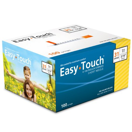 "EasyTouch® U-100 Insulin Syringe w/ Needle 1 mL 31G x 5/16"" - 831165"