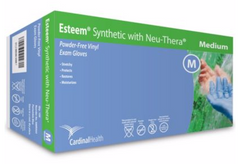 Esteem® Coated PF Stretch Vinyl Exam Gloves w/ Neu-Thera® Large - S88RX04