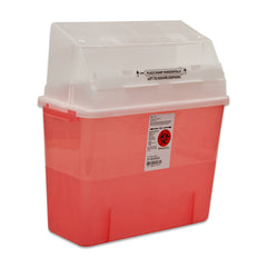GatorGuard™ 3 Gallon Transparent Red Sharps Container - 31314886 - Medsitis