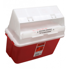 GatorGuard™ 5 Quart Transparent Red Sharps Container - 31353603 - Medsitis