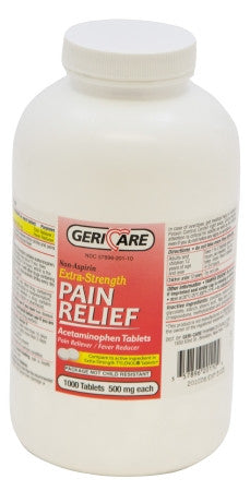 gericare acetaminophen extra strength 500 mg pain relief 1000 tabs
