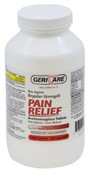 GeriCare Acetaminophen Regular Strength 325 mg. Pain Relief 1000 Tablets - 60-101-10