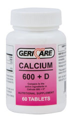 GeriCare Calcium w/ Vitamin D Supplement 200IU / 600mg - 60-747-06 - Medsitis