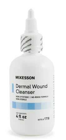 McKesson Dermal Wound Cleanser Spray and Squeeze Bottles
