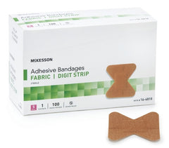 McKesson Adhesive Fabric Digit Strip Bandages - Medsitis