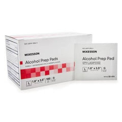 "McKesson Alcohol Prep Pads 1.8"" x 3.5"" - 58-404"