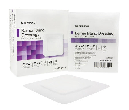 "McKesson Composite Barrier Island Dressing 4"" x 4"" - 16-89144"