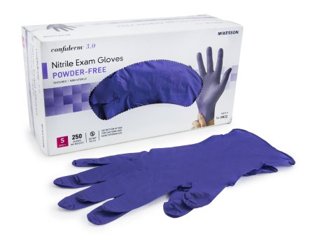 McKesson Confiderm® 3.0 Nitrile Exam Gloves Powder-free Small - 14-6N32