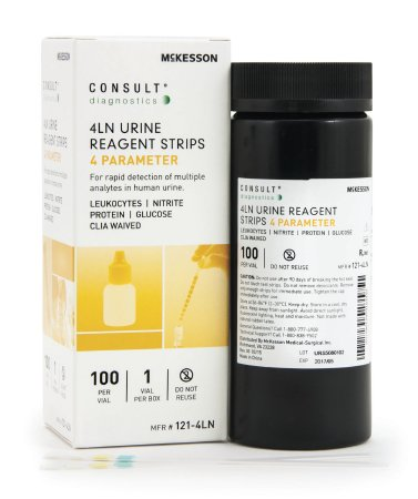 Consult® Urinalysis Reagent 4LN Test Strips - 121-4LN