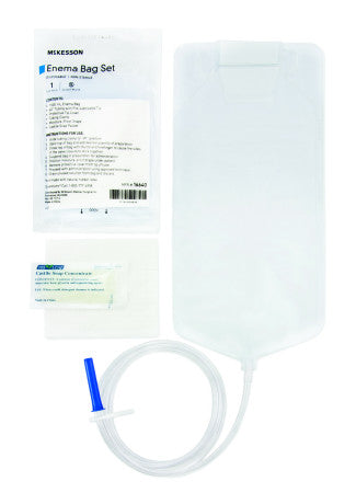McKesson Enema Bag Sets w/ Soap - 1500 mL. - 16640