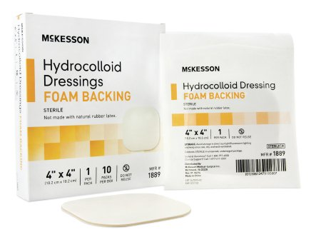 "McKesson Hydrocolloid Foam Back Dressing 4"" x 4"" Sterile - 1889"