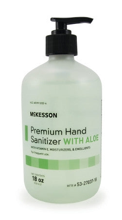 McKesson Premium Hand Sanitizer with Aloe 18 oz. Bottle - 53-27037-18